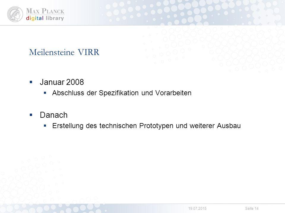 Funktionaler Prototyp VIRR