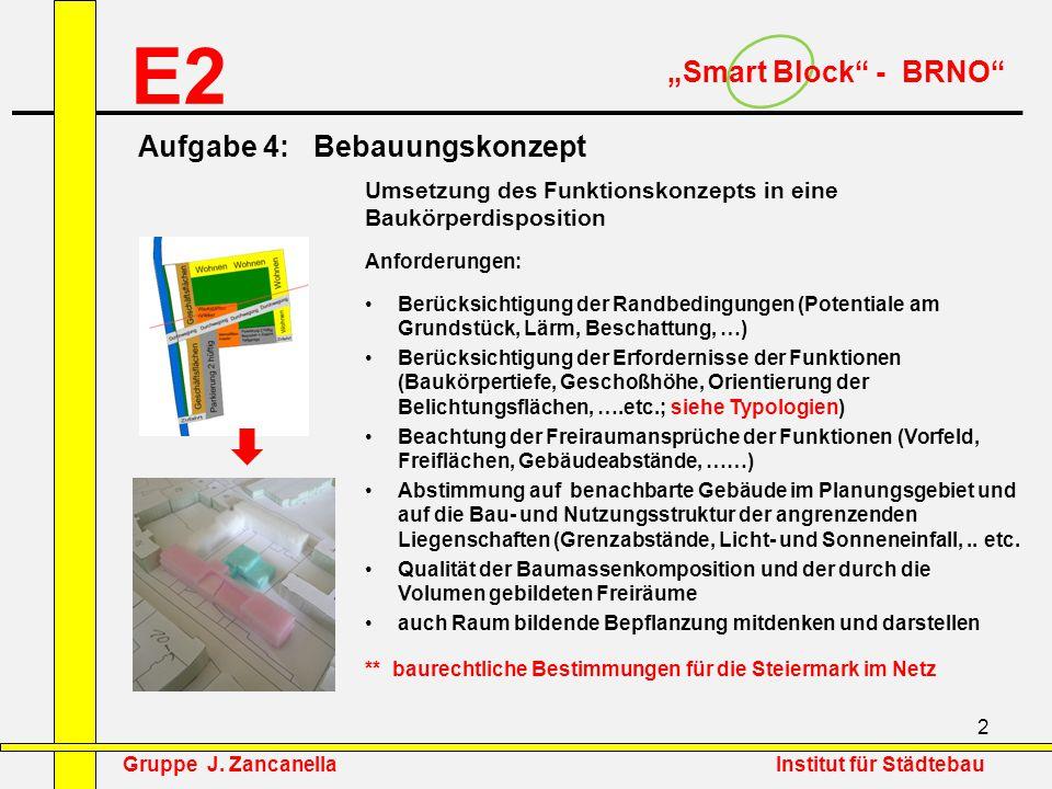 """E2 """"Smart Block - BRNO Aufgabe 4: Bebauungskonzept"""