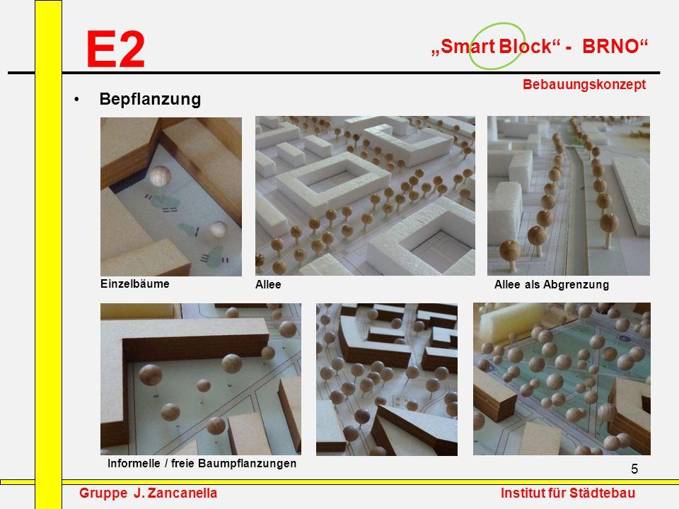 """E2 """"Smart Block - BRNO Bepflanzung Bebauungskonzept"""