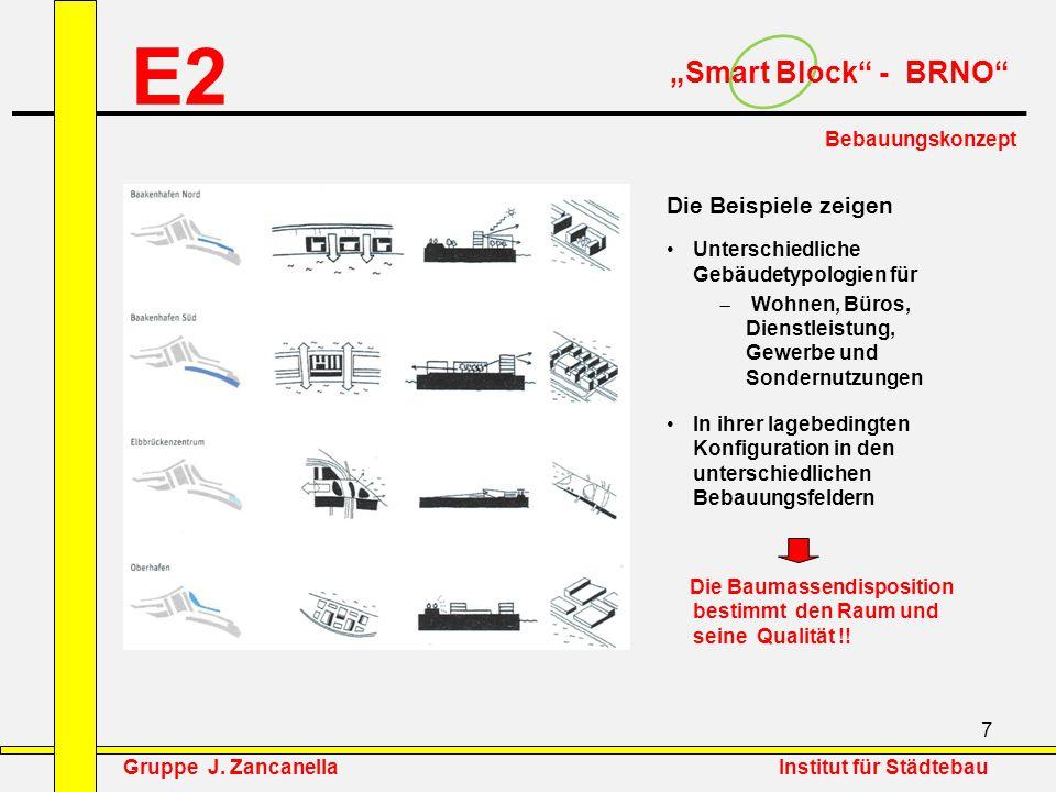 """E2 """"Smart Block - BRNO Die Beispiele zeigen Bebauungskonzept"""