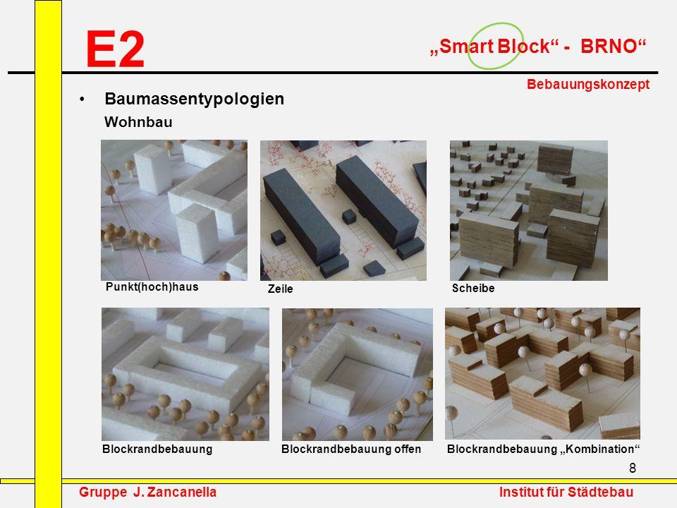 """E2 """"Smart Block - BRNO Baumassentypologien Wohnbau Bebauungskonzept"""