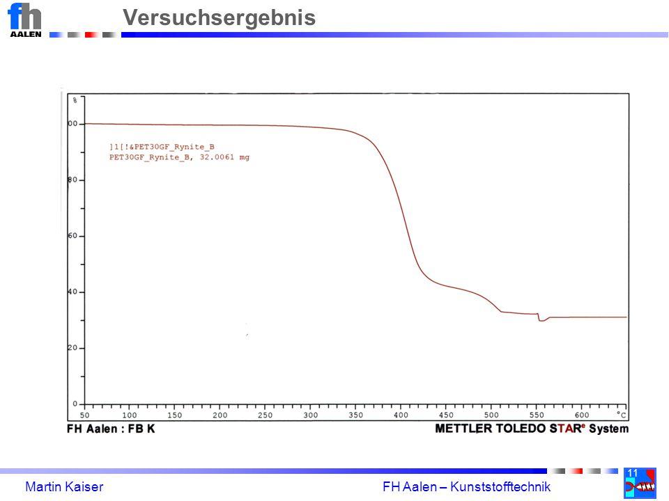 Versuchsergebnis 11 Martin Kaiser FH Aalen – Kunststofftechnik