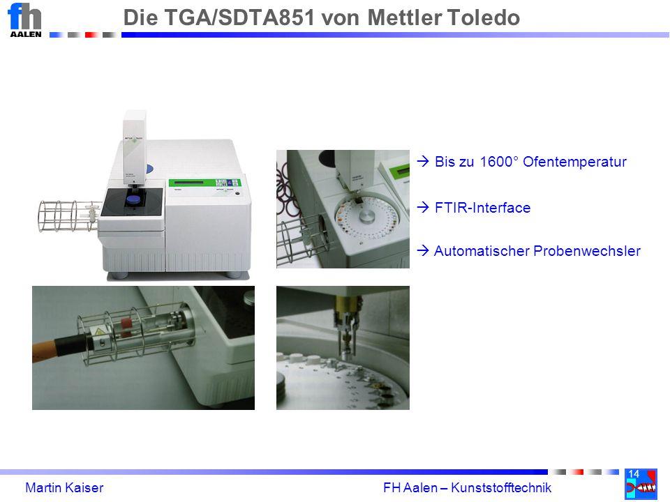 Die TGA/SDTA851 von Mettler Toledo