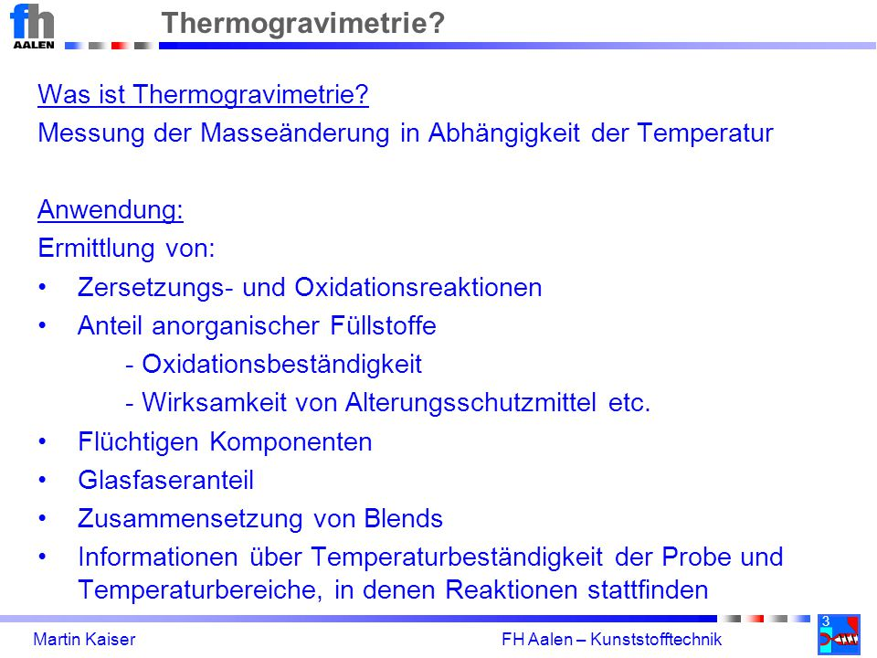 Thermogravimetrie Was ist Thermogravimetrie