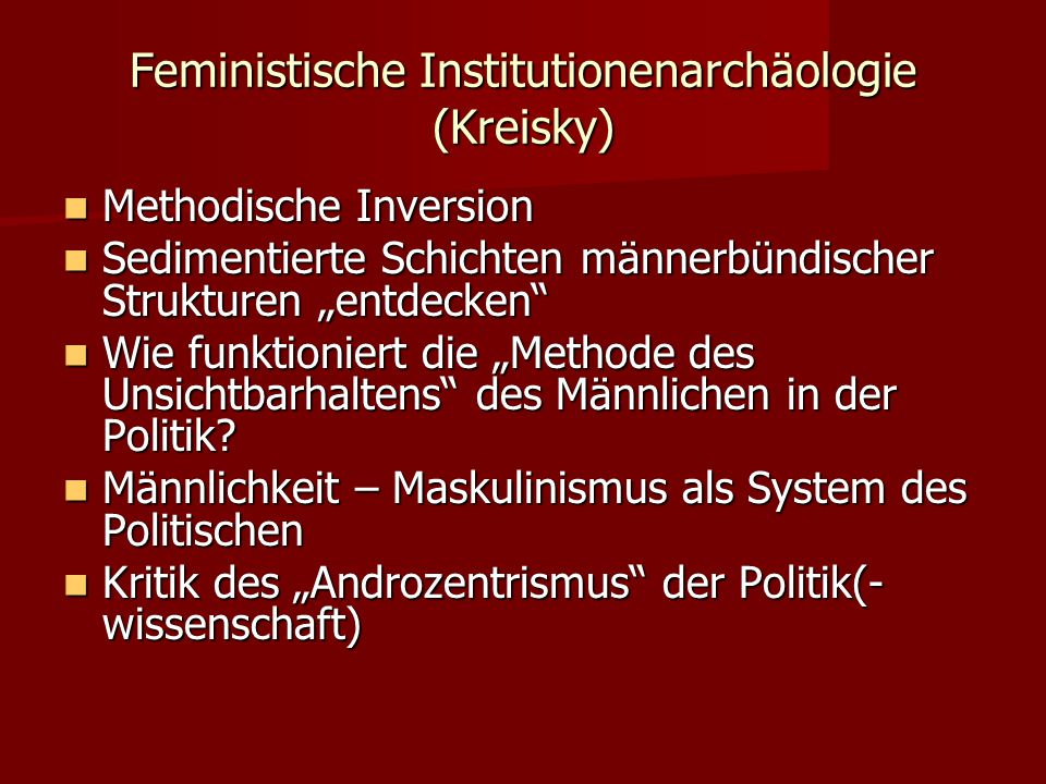 Feministische Institutionenarchäologie (Kreisky)