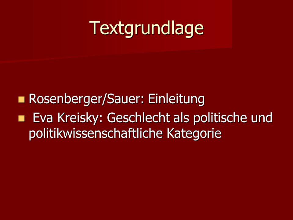 Textgrundlage Rosenberger/Sauer: Einleitung