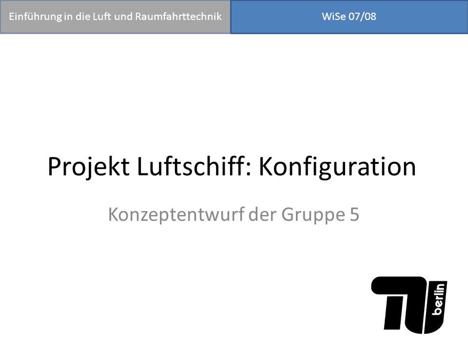 Projekt Luftschiff: Konfiguration