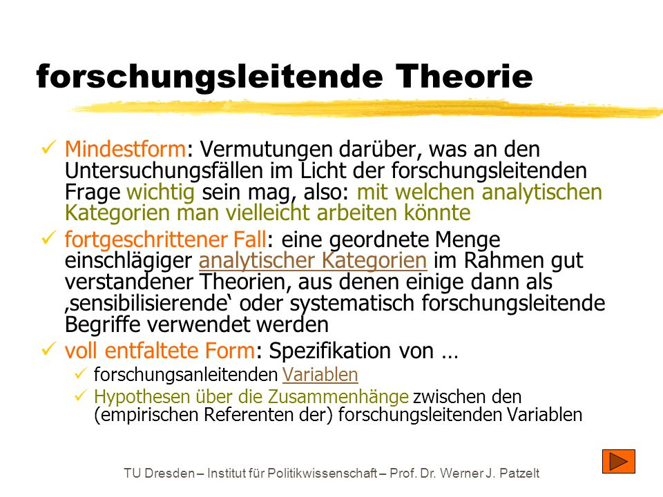 forschungsleitende Theorie