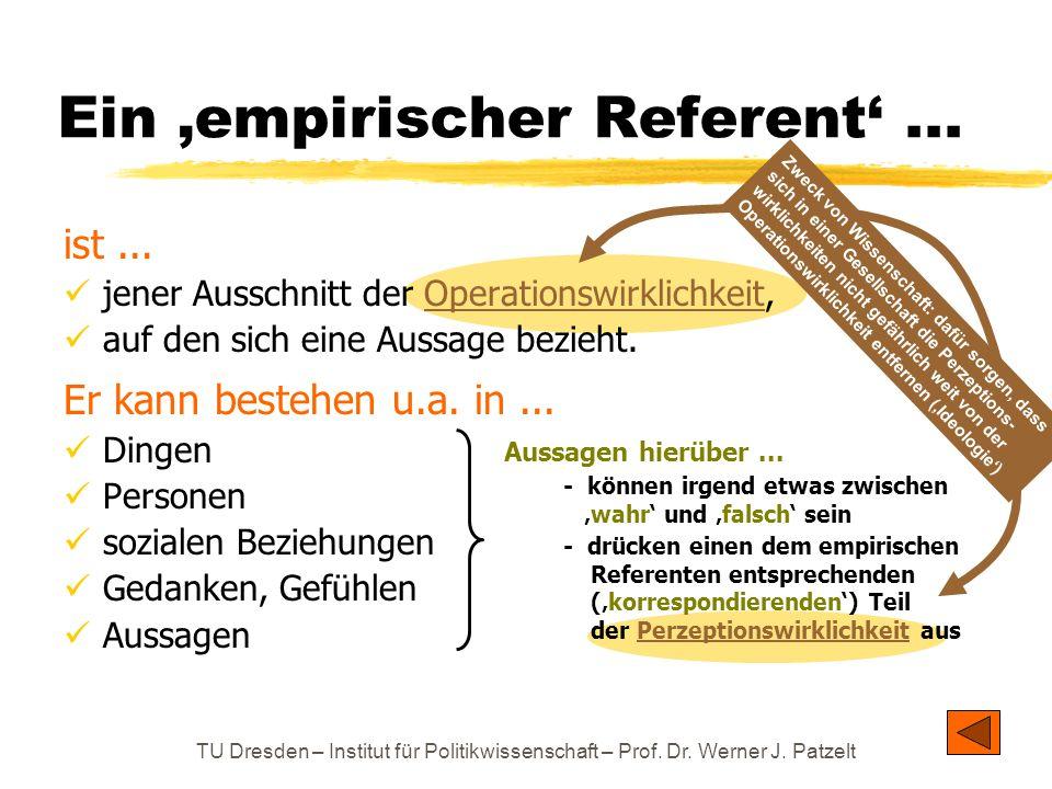 Ein 'empirischer Referent' ...