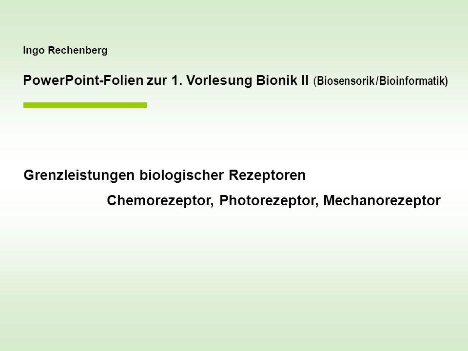 Grenzleistungen biologischer Rezeptoren