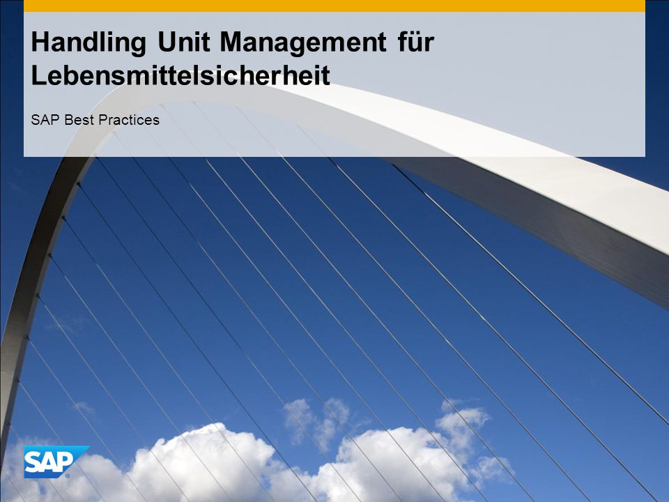 Handling Unit Management für Lebensmittelsicherheit