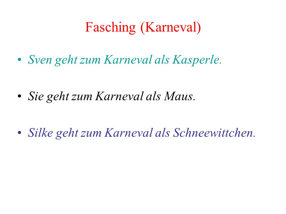 Fasching (Karneval) Sven geht zum Karneval als Kasperle.