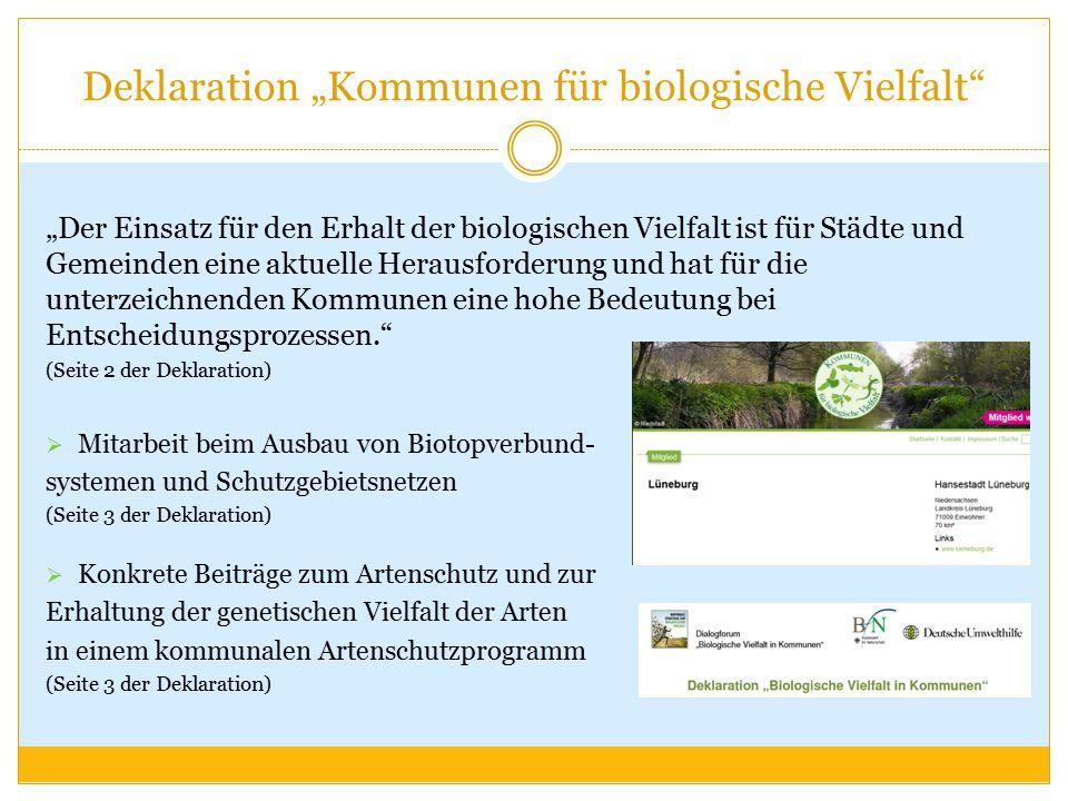 """Deklaration """"Kommunen für biologische Vielfalt"""