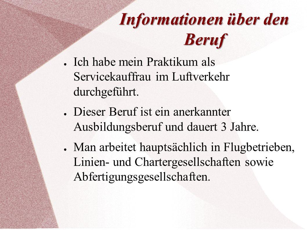 Informationen über den Beruf