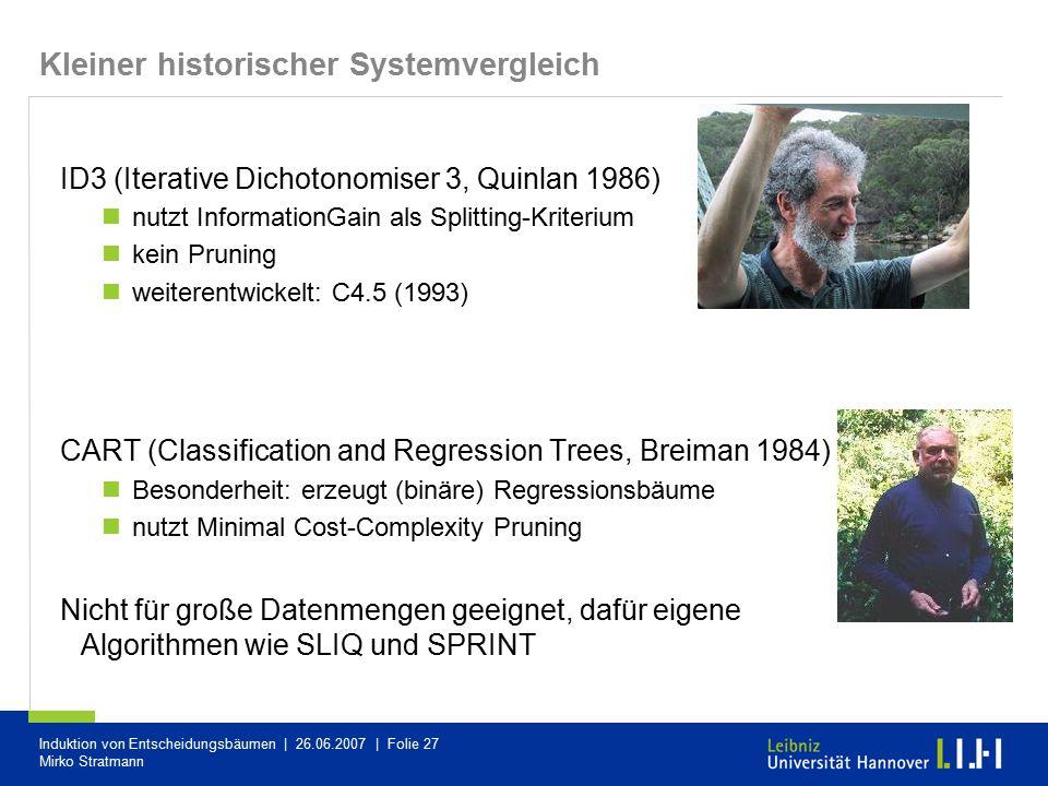 Kleiner historischer Systemvergleich