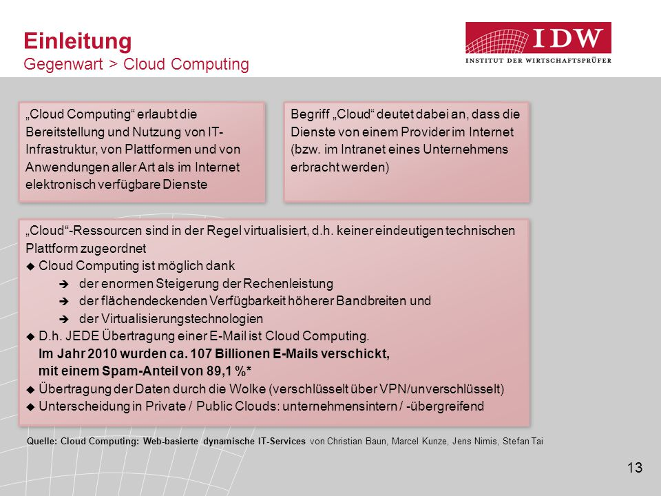 Einleitung Gegenwart > Cloud Computing