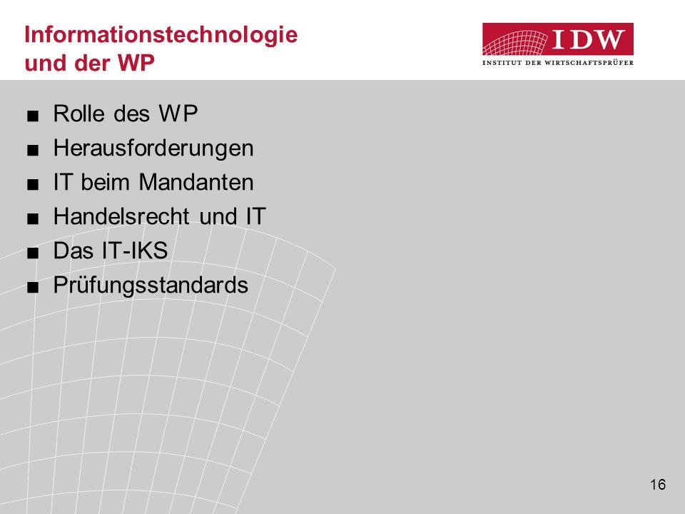 Informationstechnologie und der WP