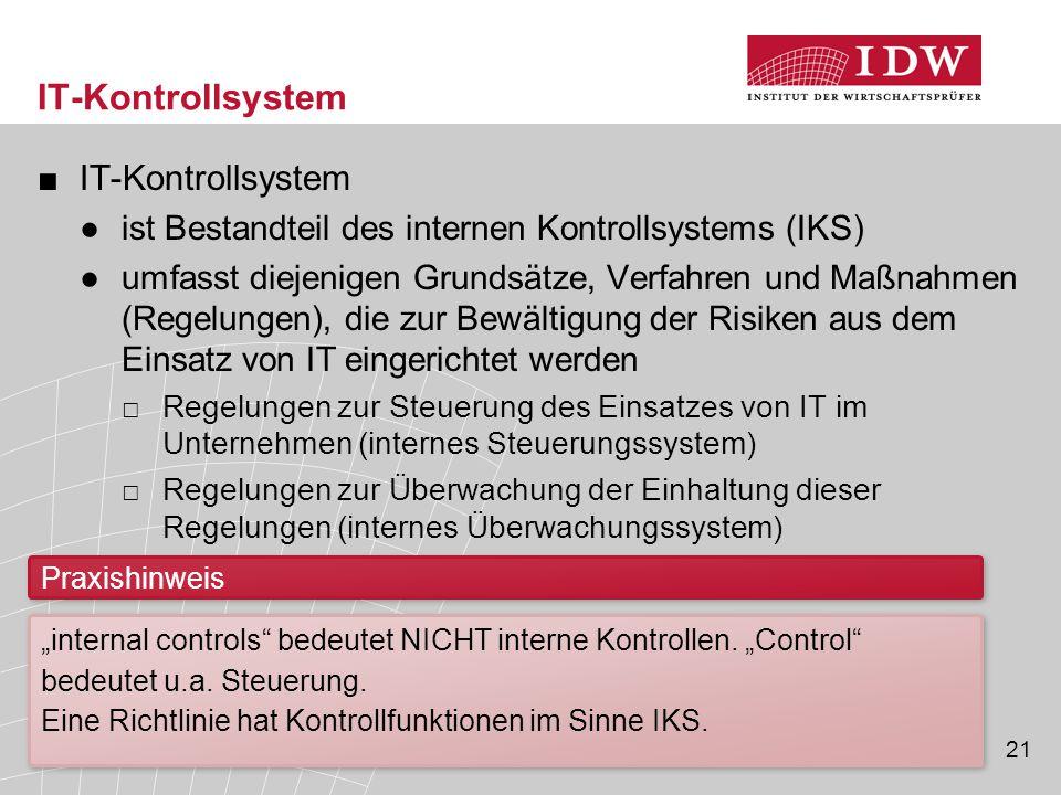 IT-Kontrollsystem IT-Kontrollsystem