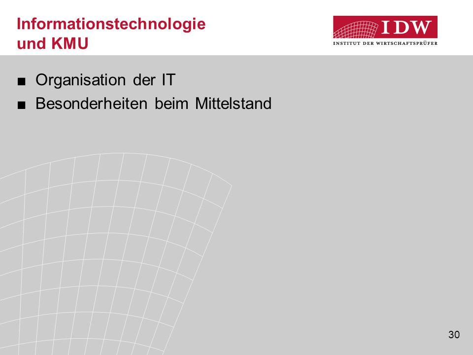 Informationstechnologie und KMU