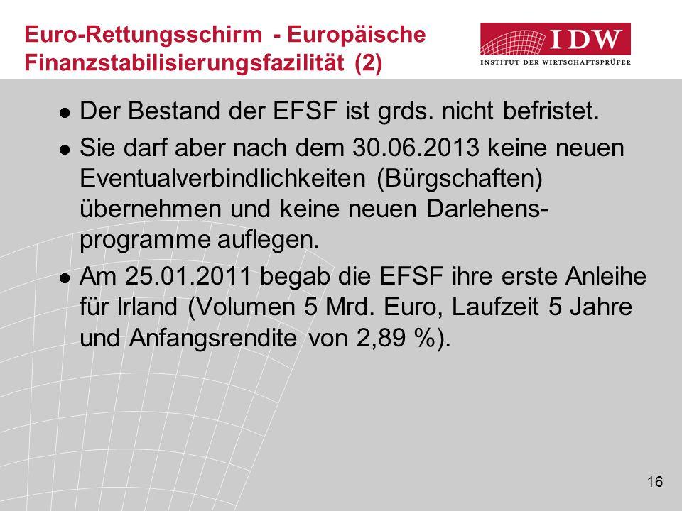 Euro-Rettungsschirm - Europäische Finanzstabilisierungsfazilität (2)