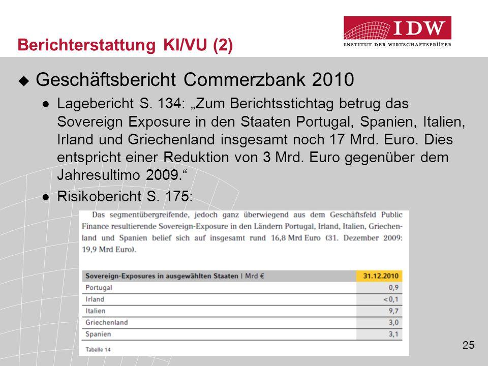Berichterstattung KI/VU (2)