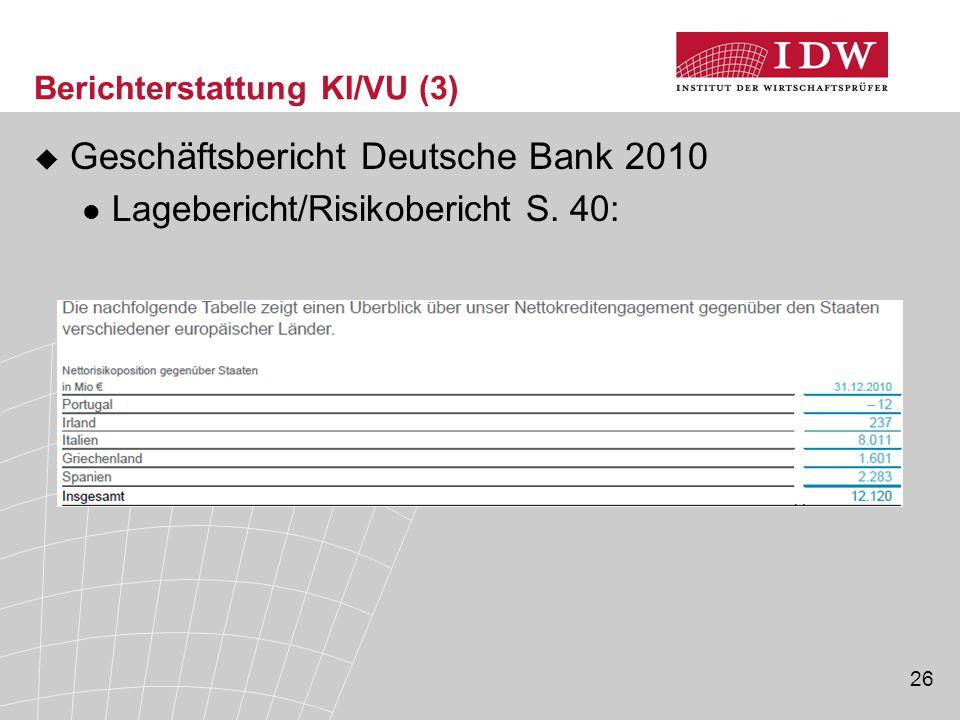 Berichterstattung KI/VU (3)