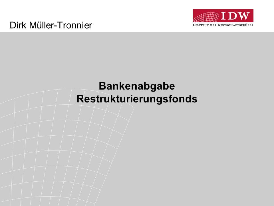 Bankenabgabe Restrukturierungsfonds