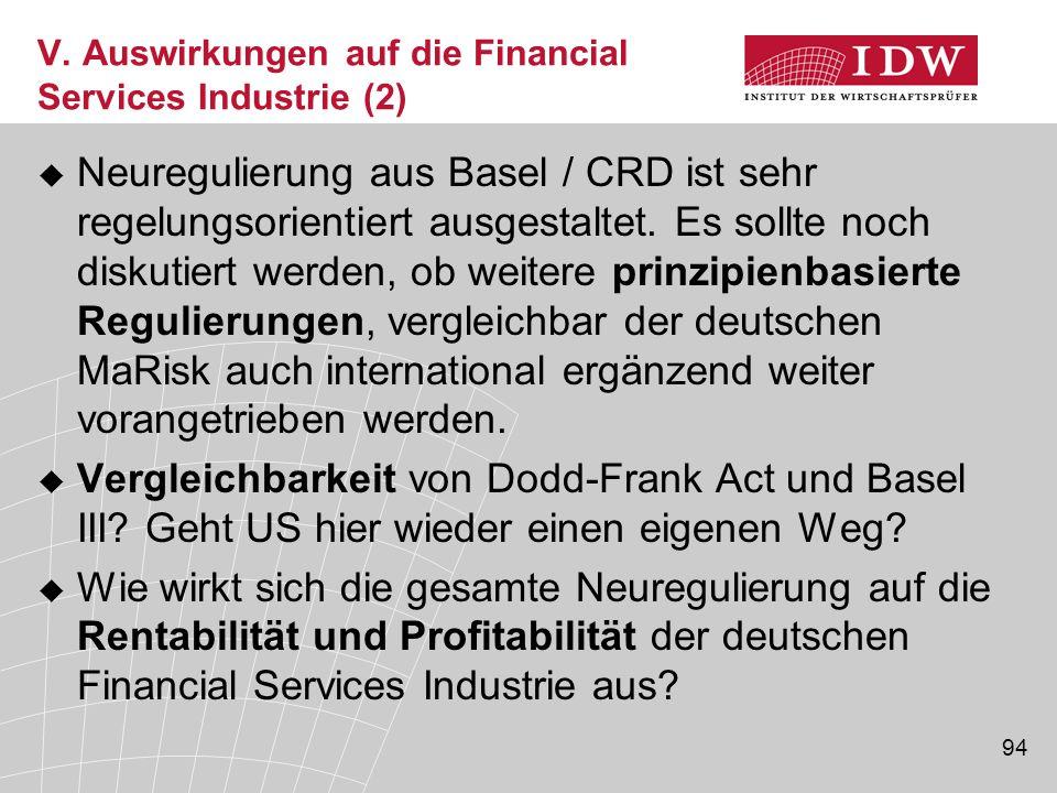 V. Auswirkungen auf die Financial Services Industrie (2)