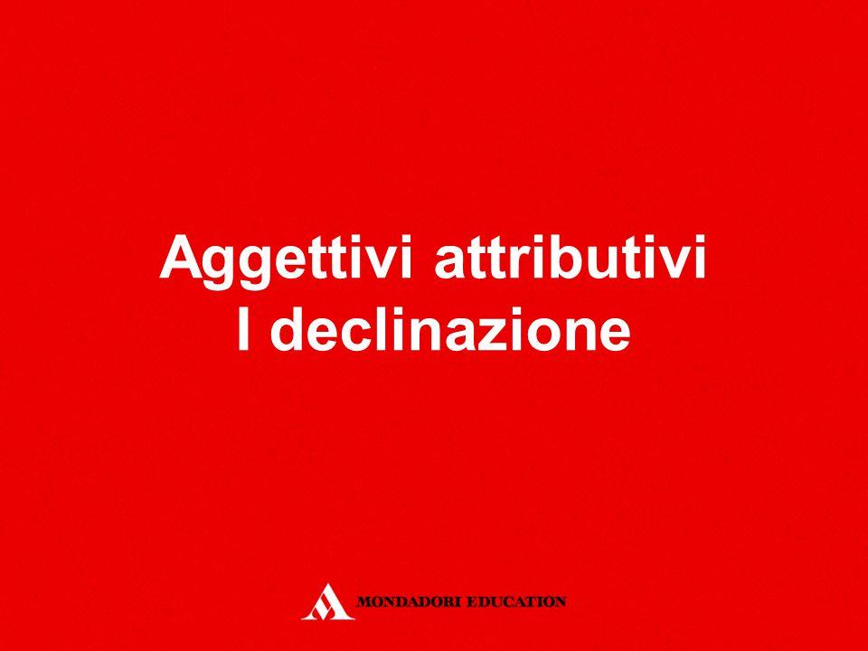 Aggettivi attributivi I declinazione