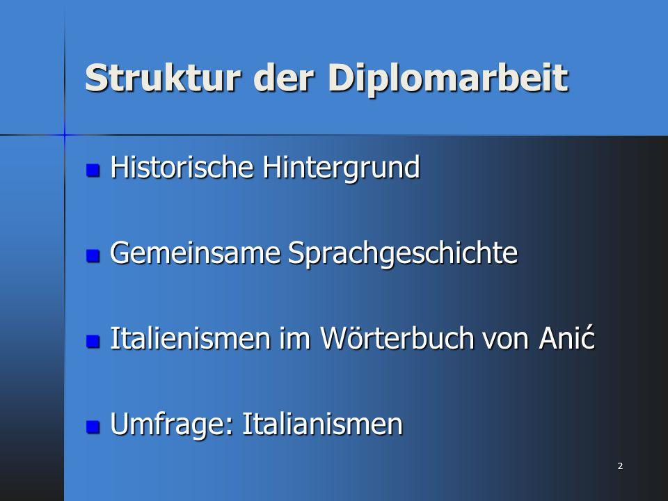 Struktur der Diplomarbeit