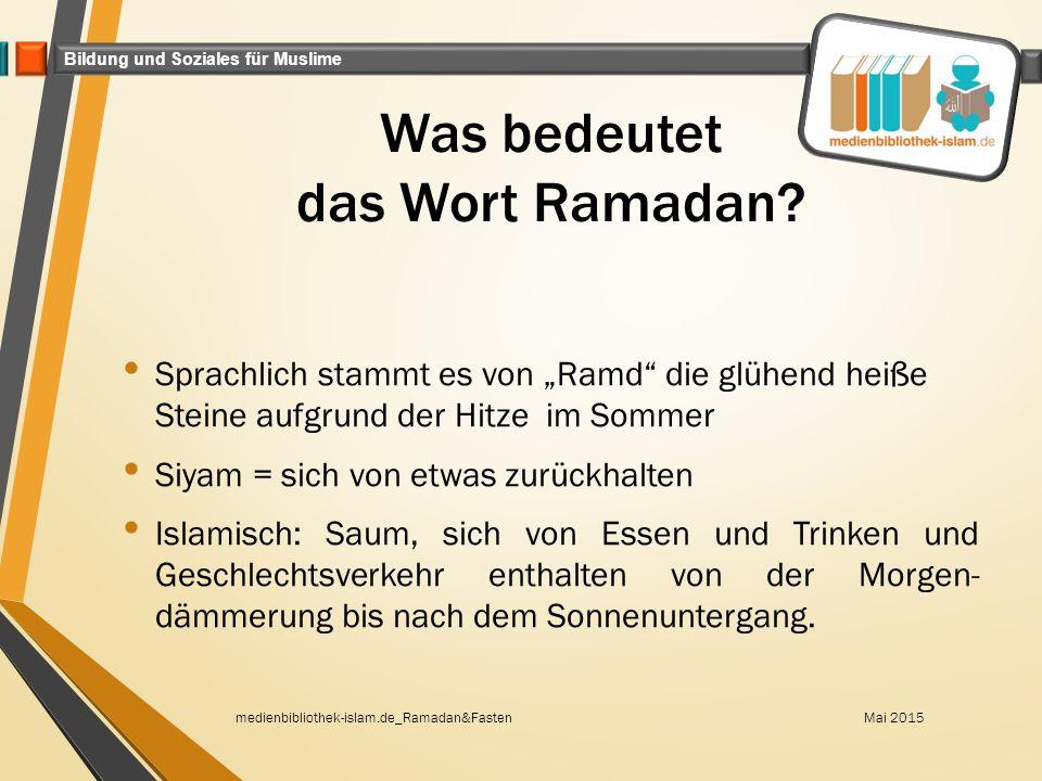 Was bedeutet das Wort Ramadan