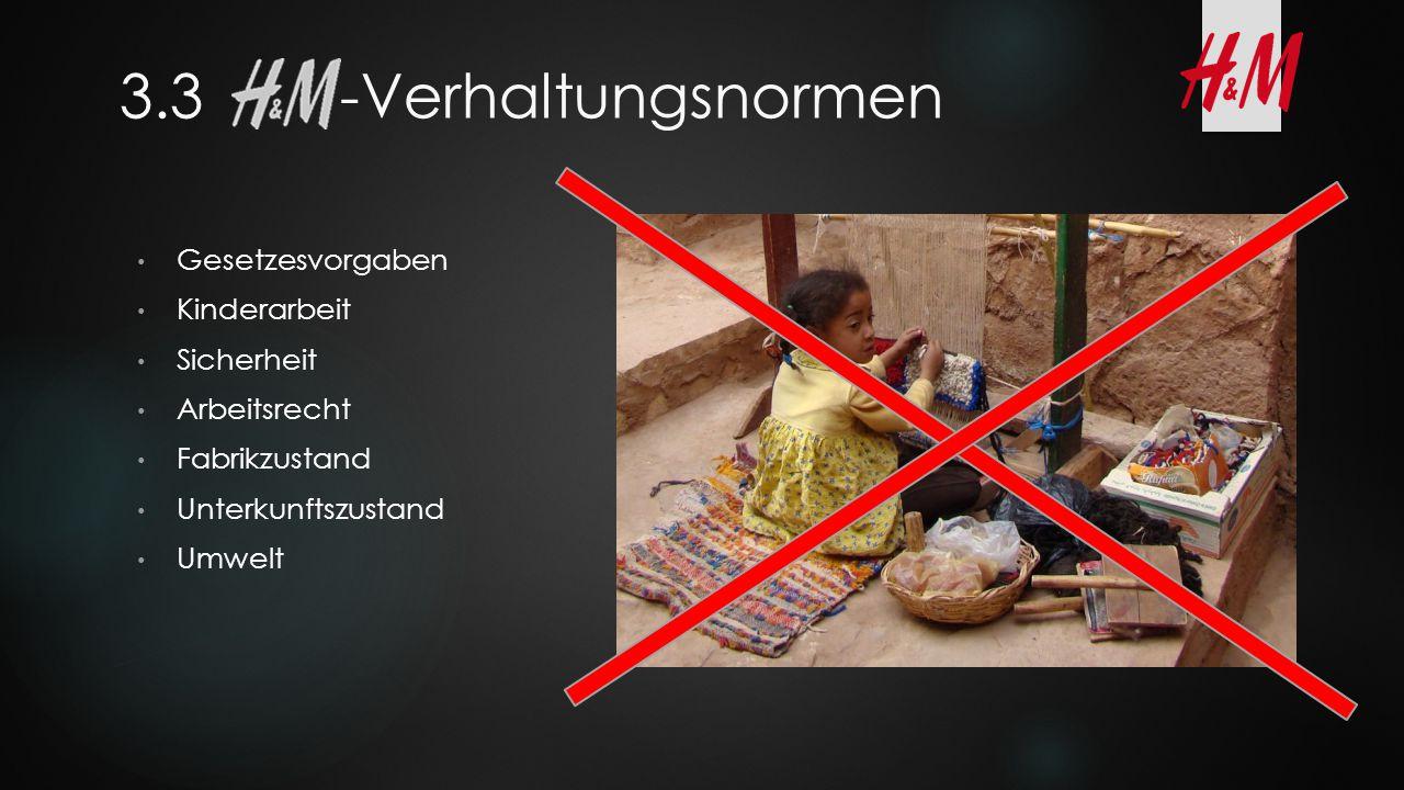 3.3 -Verhaltungsnormen Gesetzesvorgaben Kinderarbeit Sicherheit