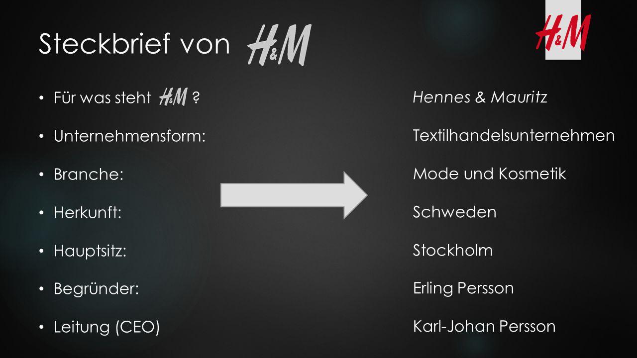 Steckbrief von Für was steht Hennes & Mauritz Unternehmensform: