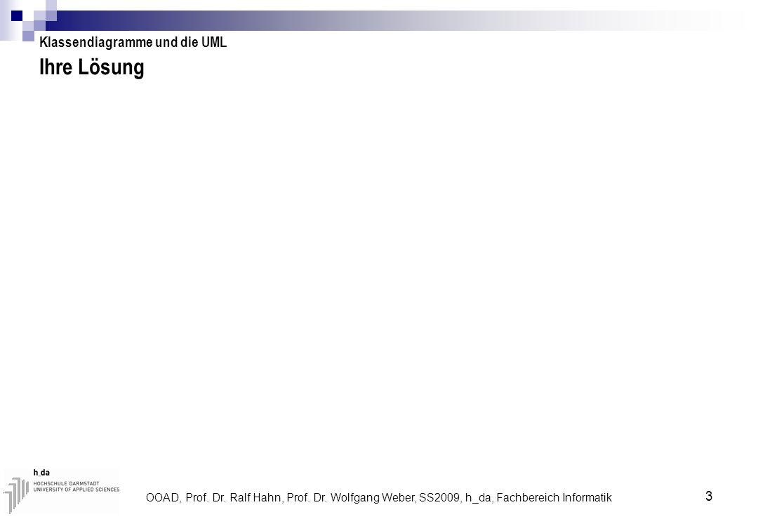 Ihre Lösung Klassendiagramme und die UML