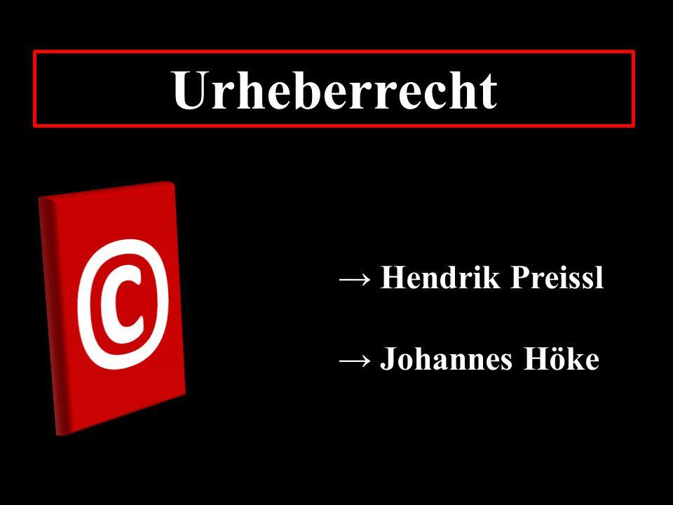 Urheberrecht © → Hendrik Preissl → Johannes Höke