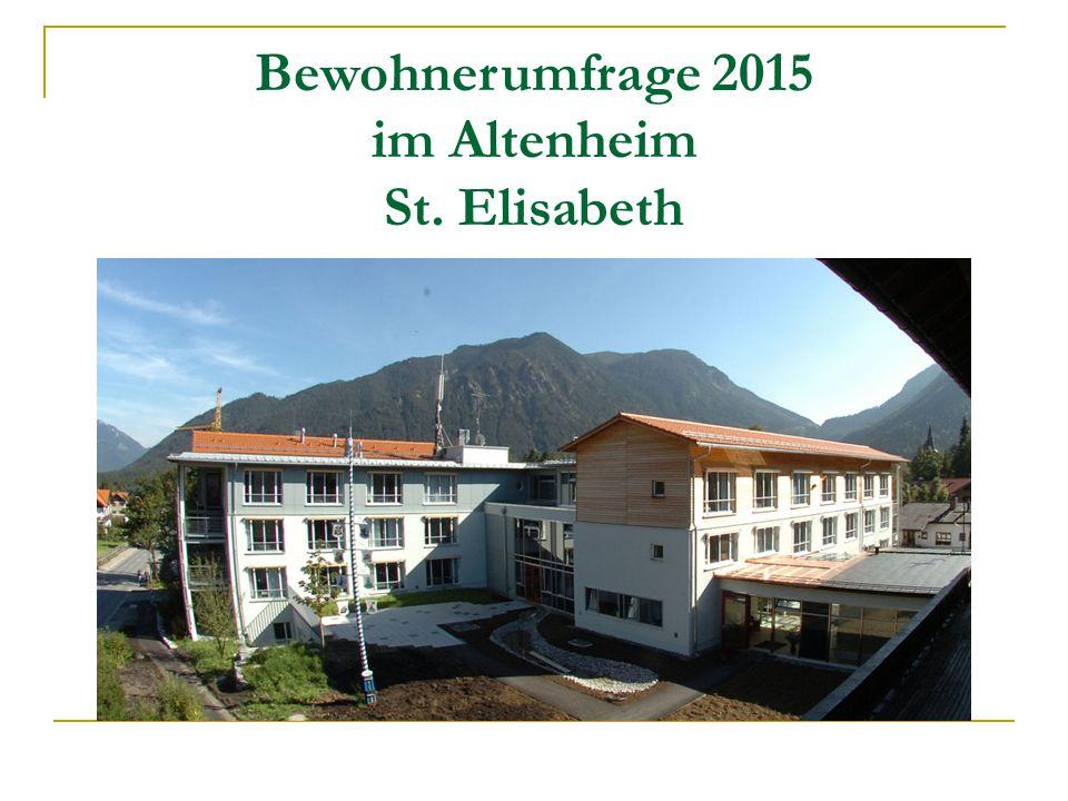 Bewohnerumfrage 2015 im Altenheim St. Elisabeth