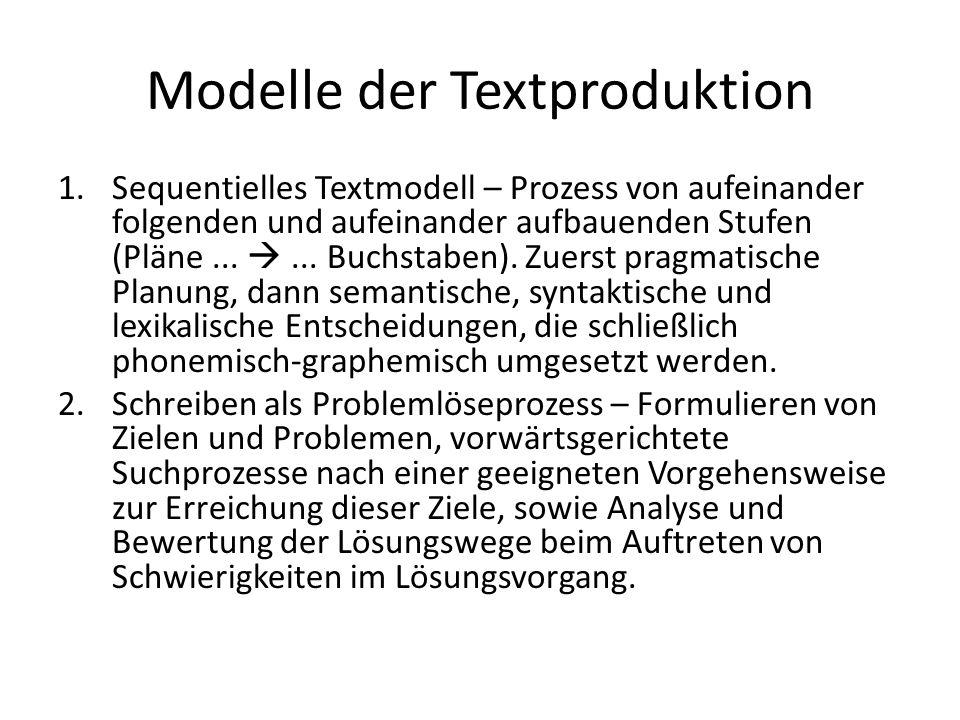 Modelle der Textproduktion