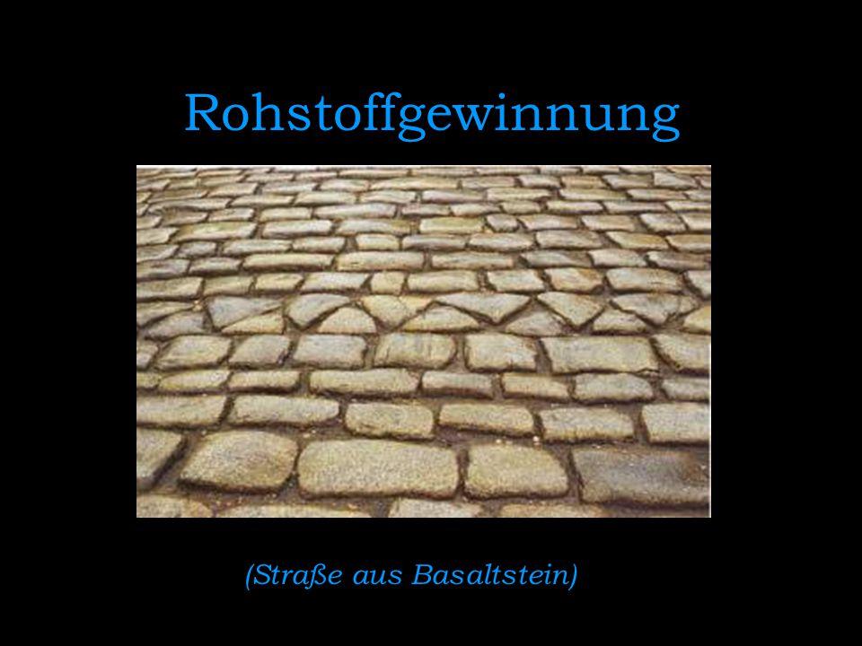 (Straße aus Basaltstein)
