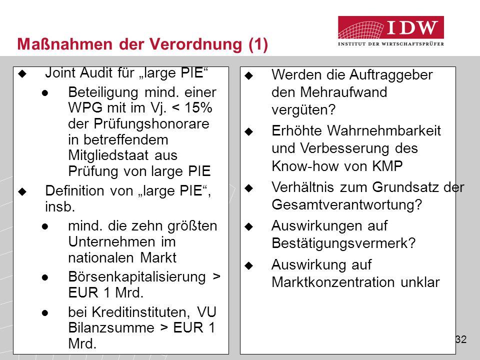 Maßnahmen der Verordnung (1)