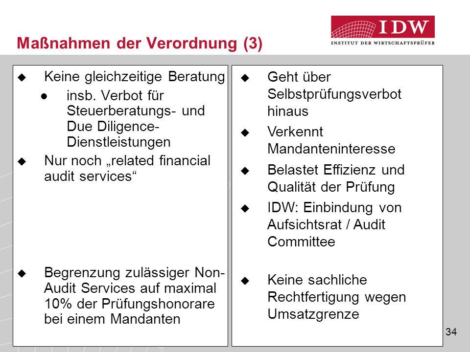 Maßnahmen der Verordnung (3)