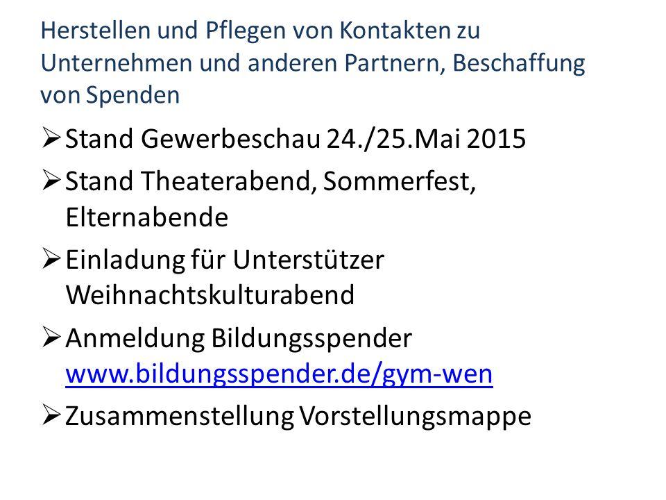 Stand Gewerbeschau 24./25.Mai 2015