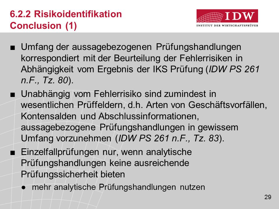 6.2.2 Risikoidentifikation Conclusion (1)