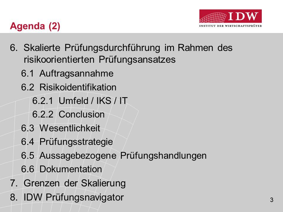 7. Grenzen der Skalierung 8. IDW Prüfungsnavigator