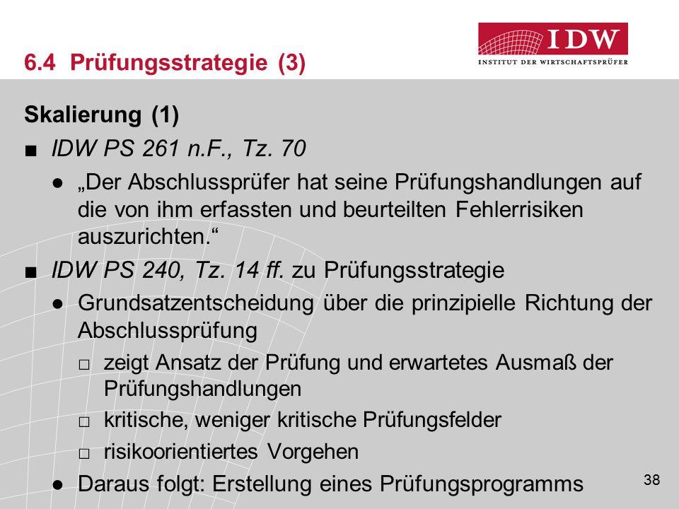 IDW PS 240, Tz. 14 ff. zu Prüfungsstrategie