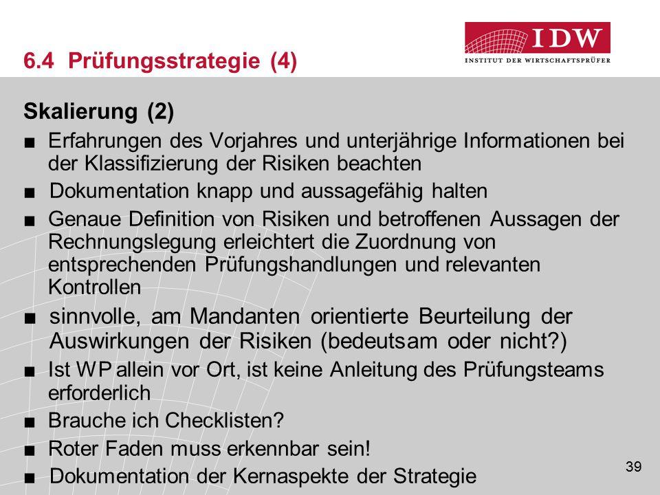 6.4 Prüfungsstrategie (4) Skalierung (2)