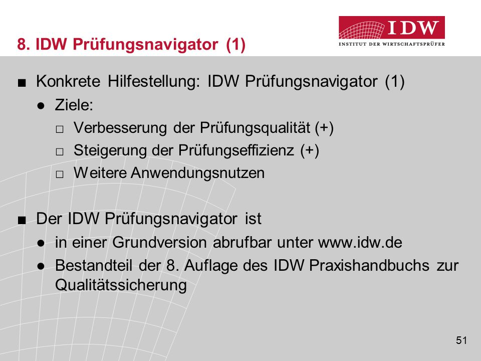 8. IDW Prüfungsnavigator (1)