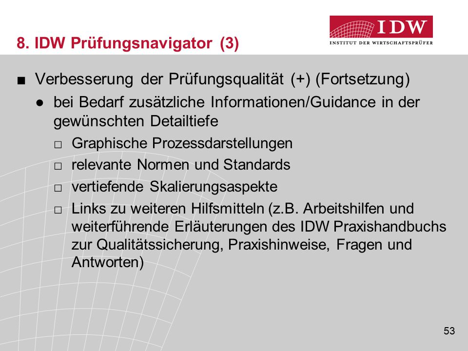 8. IDW Prüfungsnavigator (3)