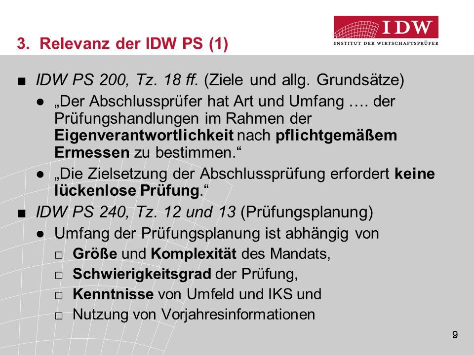 IDW PS 200, Tz. 18 ff. (Ziele und allg. Grundsätze)