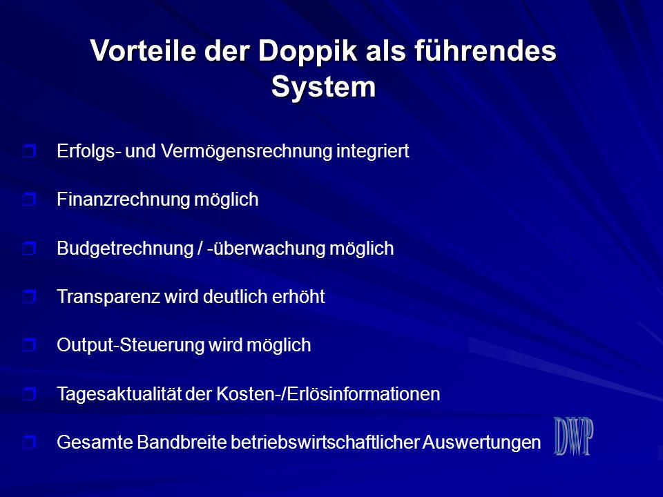Vorteile der Doppik als führendes System