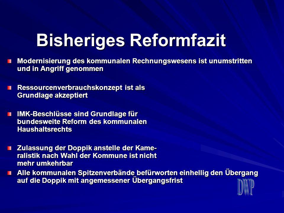 Bisheriges Reformfazit